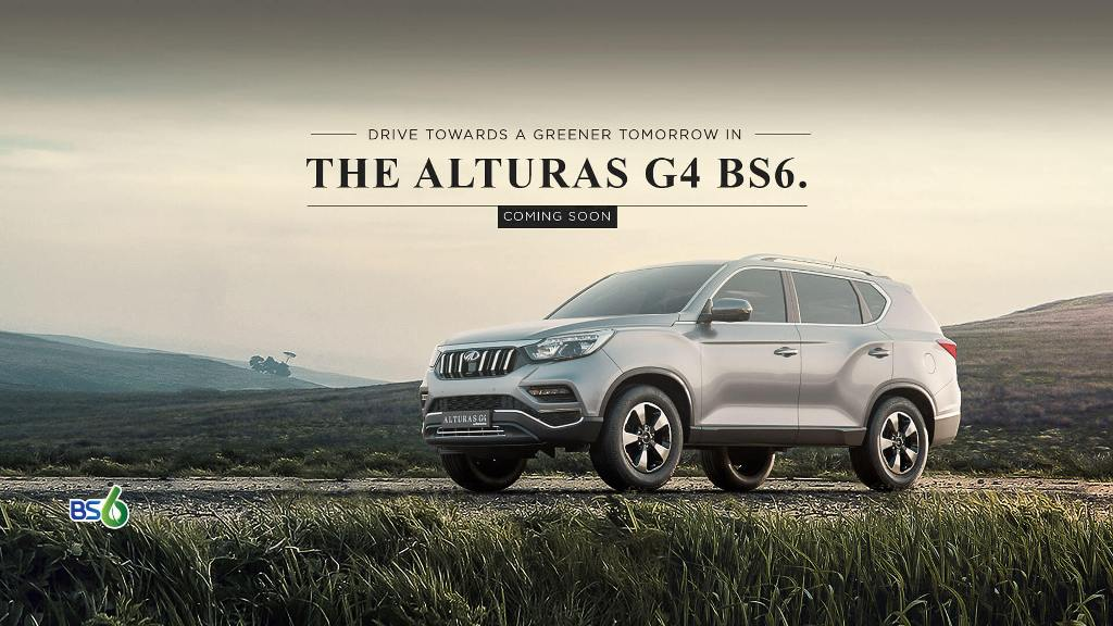 Mahindra Alturas G4 BS6 Teased Ahead Of Launch; Bookings Open