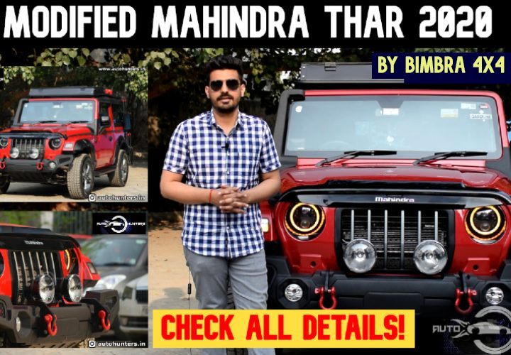 New 2020 Mahindra Thar Modified By Bimbra 4X4